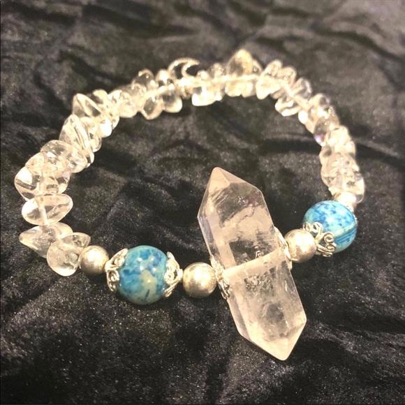 ⭐️NEW! Quartz/crazy lace agate stretch bracelet